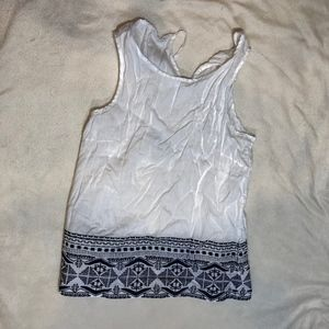 Artisan New York Embroidered Linen Tank Top